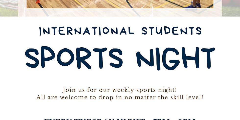 International Students Weekly Sports Night!