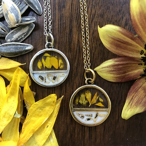 WS - Sun Lily Half Circle Necklace