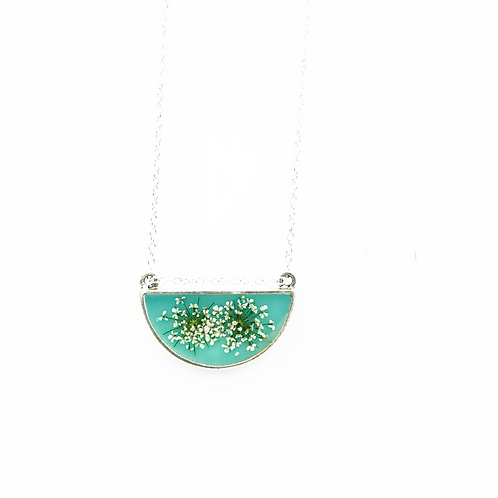 Queen Anne's Lace Half Circle Necklace