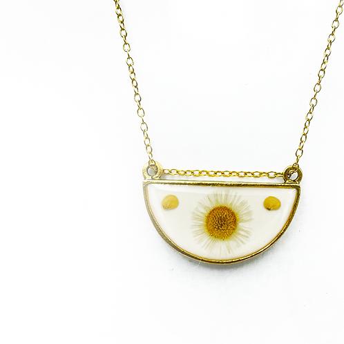Daisy Fleabane Half Circle Necklace