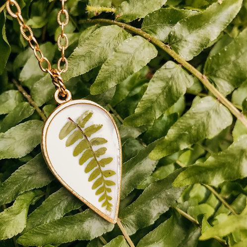 Fern Drop Necklace