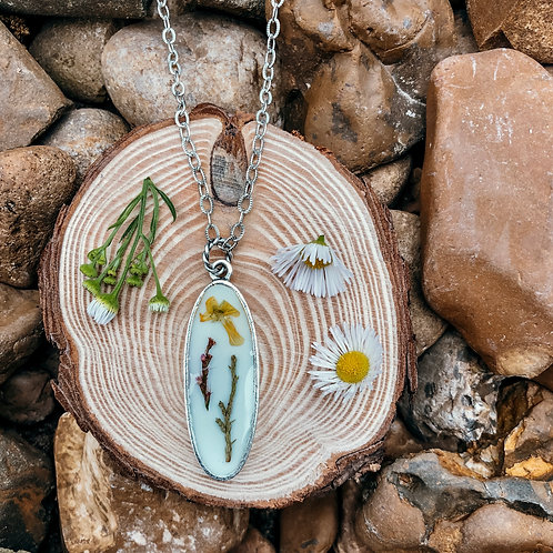 Wildflower Oval Drop Necklace