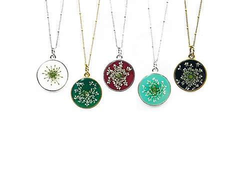 Queen Anne's Lace Single Sided Pendant