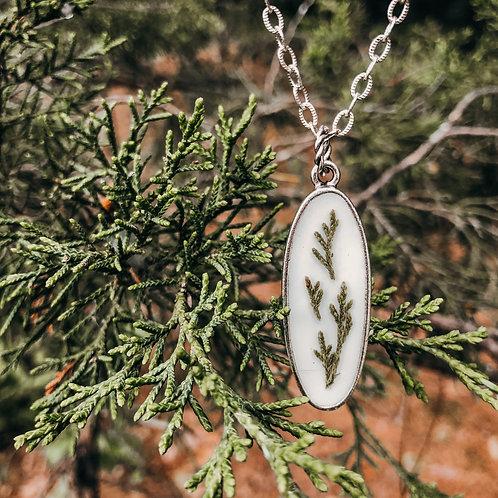 WS - Cedar Oval Necklace
