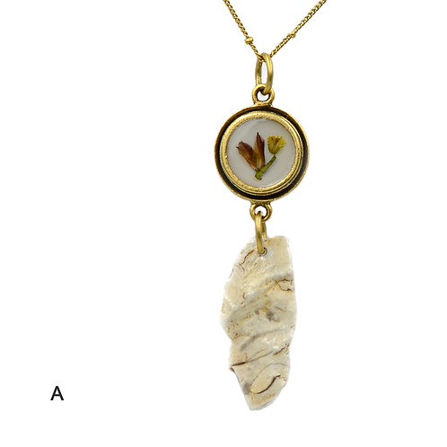 King's Fall Limestone Necklace