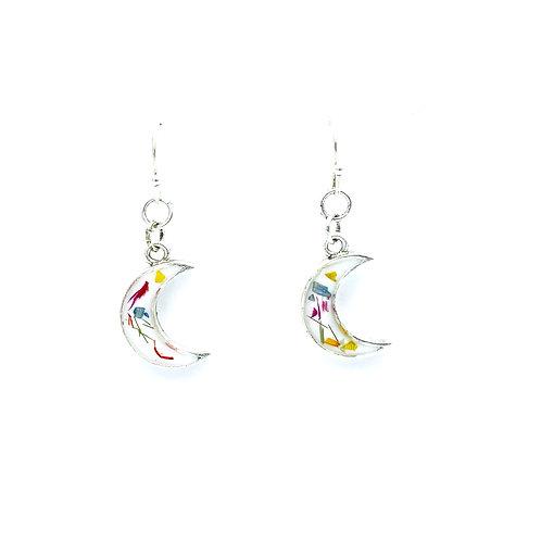 Flowerfetti Crescent Earrings