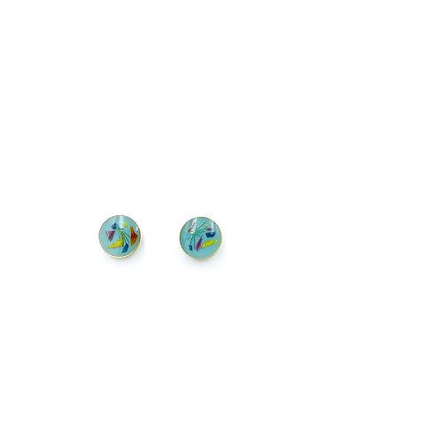 Flowerfetti Teal Stud Earrings