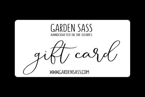 Garden Sass Digital Gift Card