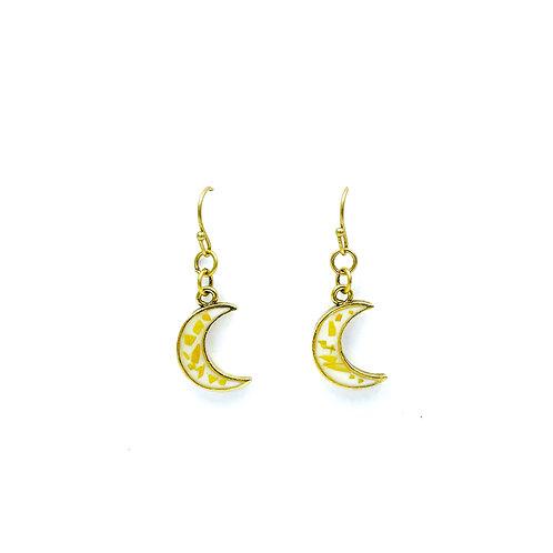 Sunflower Crescent Earrings