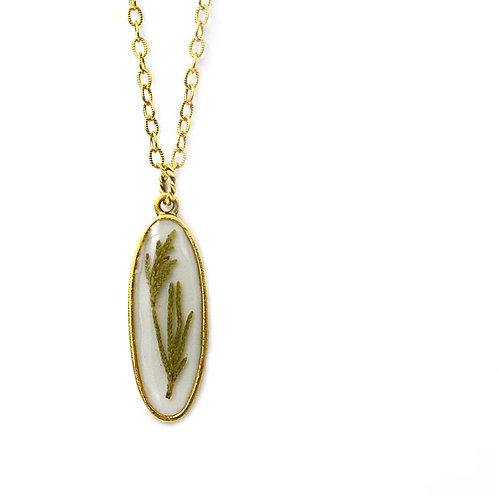 Cedar Oval Necklace