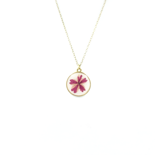 Pink Bloom Single Sided Pendant