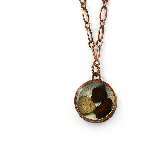 Round Rock Copper Necklace