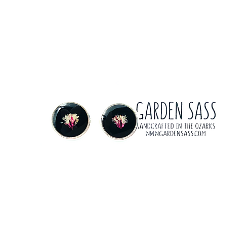 Pink Party Dime Studs