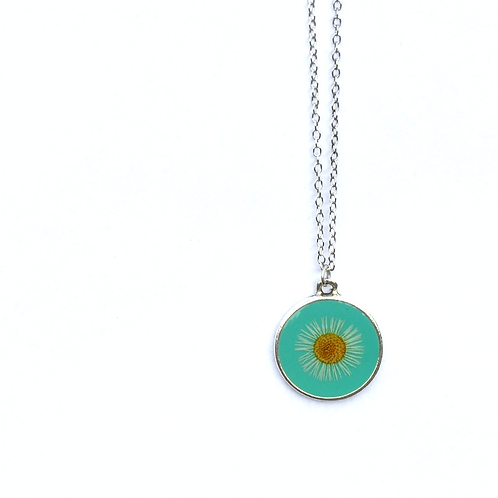 Turquoise Single Sided Aster Pendant