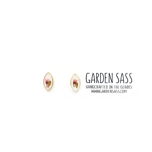 Pointed Pink Corsage Studs