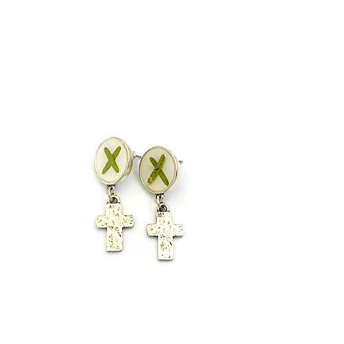 X Cross Earrings