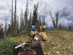 Packing in, drop camp, high country