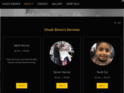 Book Online at Chuck Simon's Barbershop