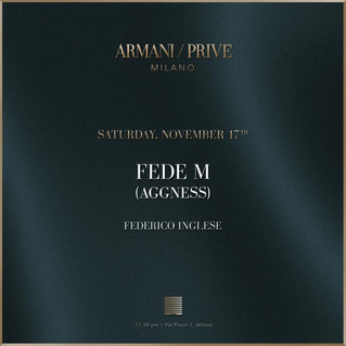 DJ set @ Armani Privè in Milan