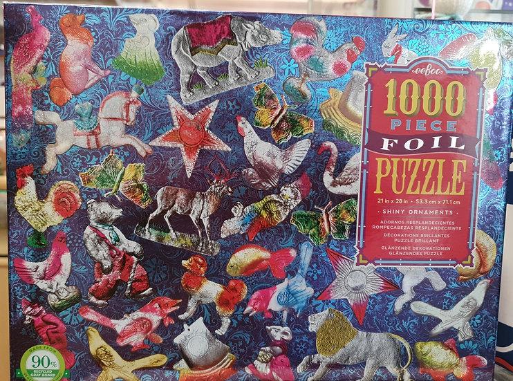 Eeboo Shiny Ornaments foil puzzle