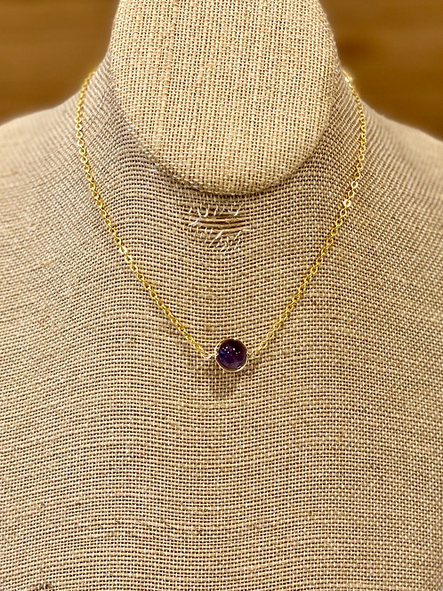 Amethyst Wire Wrapped Choker