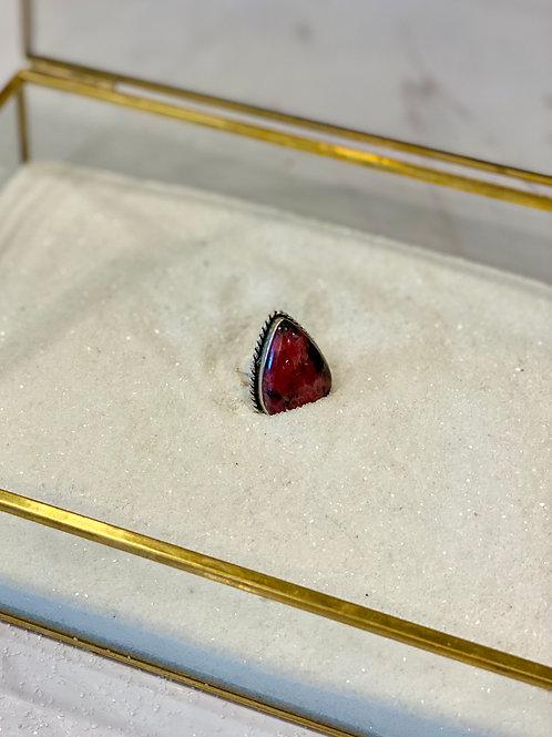 Rhodochrosite Turkish Ring