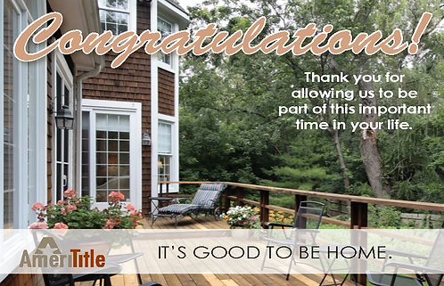 AmeriTitle Home Welcome Mat Notecard