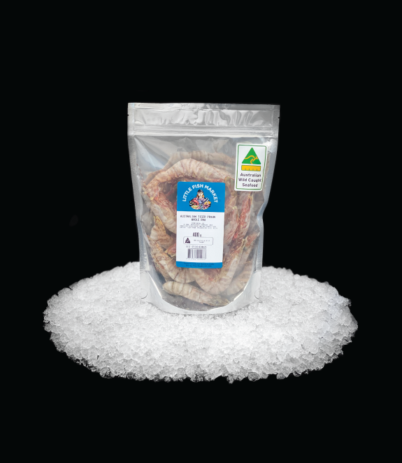 LFM Whole Raw Tiger Prawns 400gm Label-W