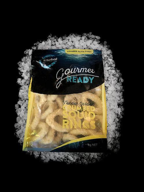 Crumbed Squid Rings 1kg