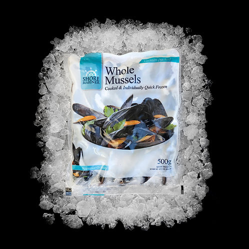 Whole Black Mussels Cooked 500gm