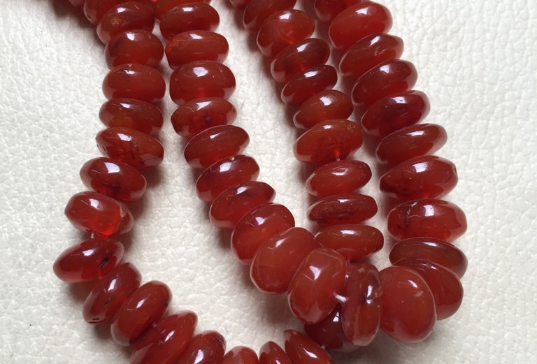 "Carnelian Beads 1 Strand 18"" Inches Size: 8-12 MM Approx"