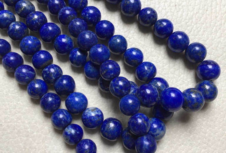 """Lapis Lazuli Beads 1 Strand 14"""" Inches Size: 6-8 MM Approx"""