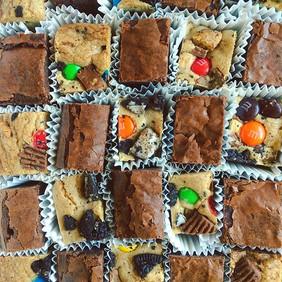 Fudge Brownie Bites and Loaded Cookie Ba