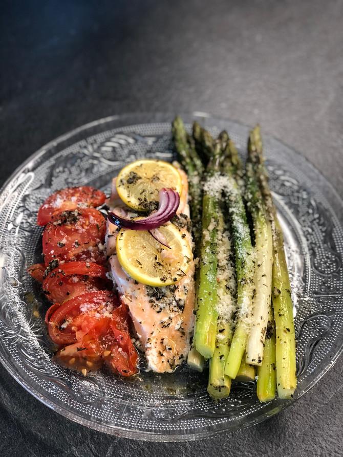 Asperges et saumon