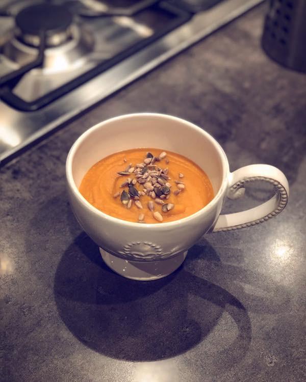 Soupe butternut lentilles corail au gingembre