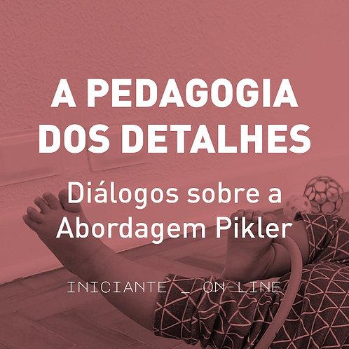 A Pedagogia dos Detalhes - Diálogos sobre a Abordagem Pikler - iniciante