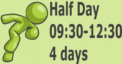 Half Day - 4 days