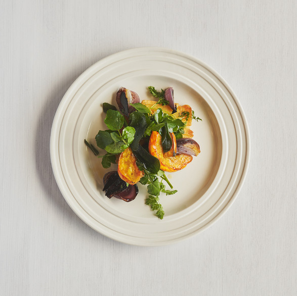 Head Chef Charlie Hibbert; Rooted in a passion for the local land, food and entertaining, the carefully curated menus are farm-based and plant-inspired.