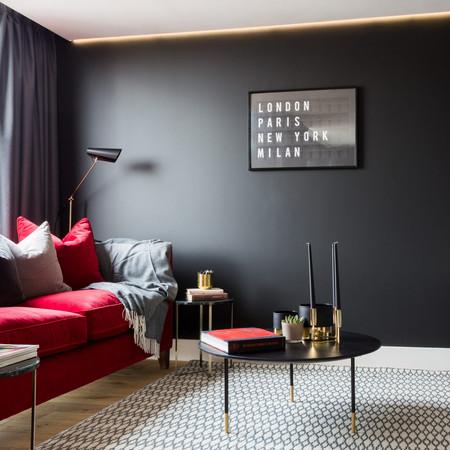Each apartment has a different colour scheme for a unique visit every time.
