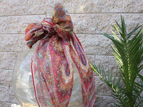 MODAL/LEINENTUCH Ornamente Rot