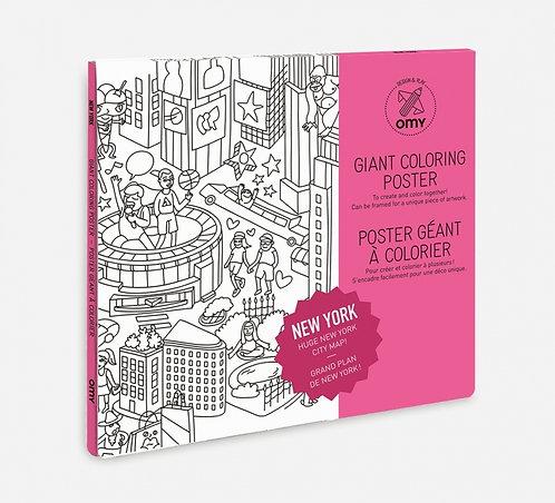 Coloriage géant villes / pays (plusieurs modèles au choix)