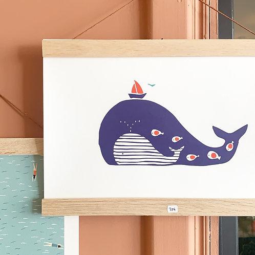 Poster baleine Monsieur Papier