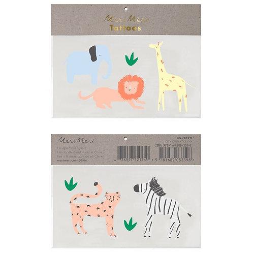 Tatouages éphémères Safari