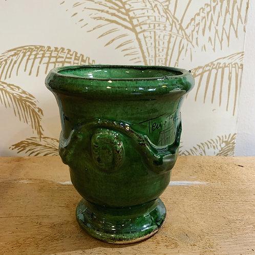 Mini vase d'Anduze vert