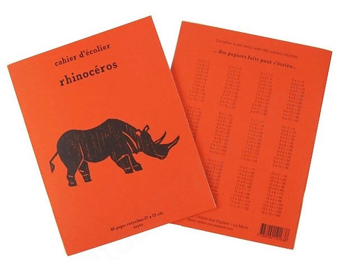 Cahier Rhino papier recyclé