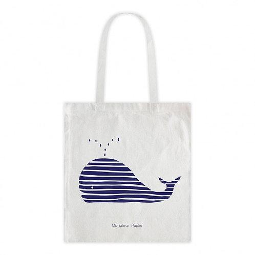 Tote bag Baleine rayée
