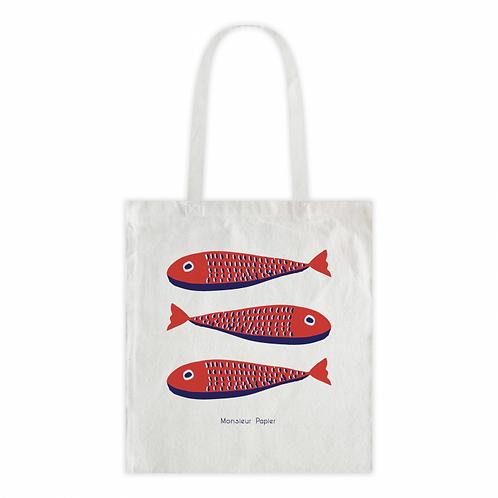 Tote bag fish