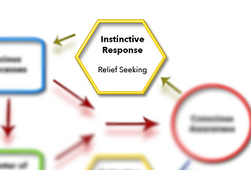 Instinctive response section of schematic model for OCD treatment via ERP