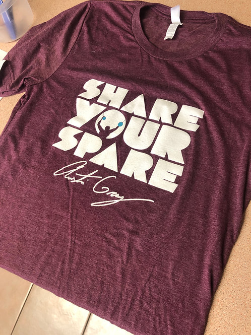LIMITED EDITION: Maroon Share Your Spare T-shirt (only 50 for sale!)