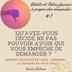 """""""Demande et tu recevras"""" - Outil n°1"""